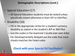 demographic descriptions cont25