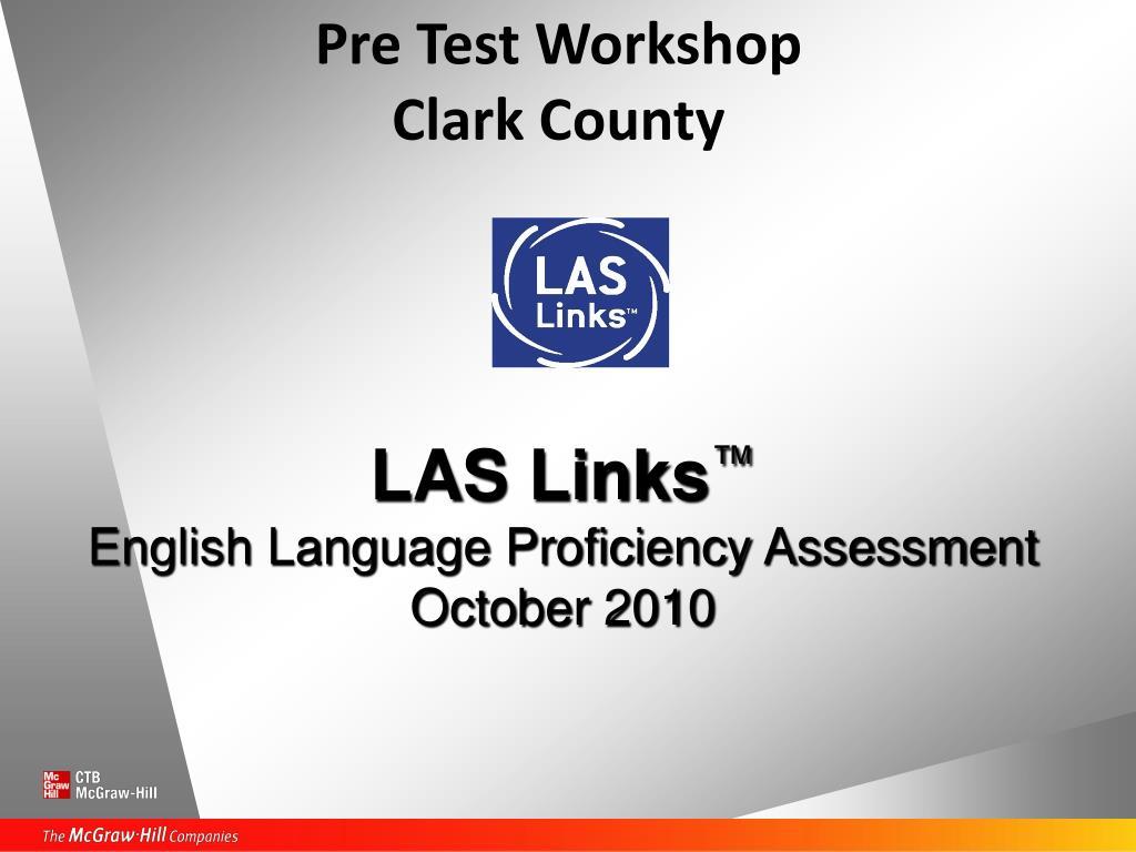 pre test workshop clark county l.