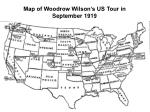 map of woodrow wilson s us tour in september 1919