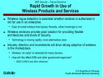 wifi security future directions rapid growth in use of wireless products and services