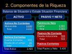 2 componentes de la riqueza17