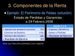 3 componentes de la renta38