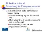 all politics is local something for everyone continued1