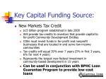 key capital funding source