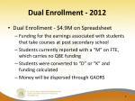 dual enrollment 2012