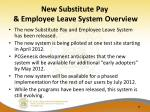 new substitute pay employee leave system overview