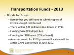 transportation funds 2013