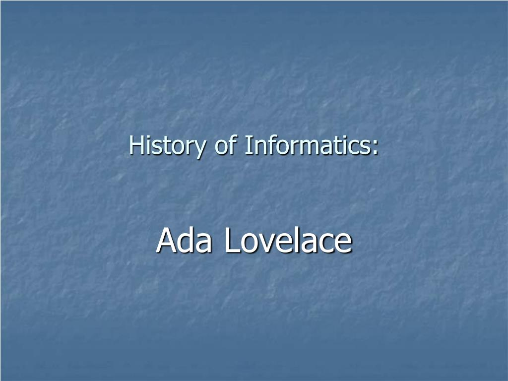 history of informatics l.