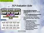 tcp evaluation suite