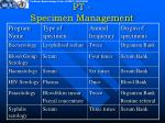 pt specimen management11