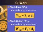 c work
