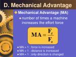 d mechanical advantage