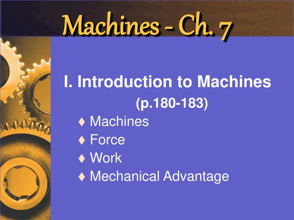machines ch 7 l.