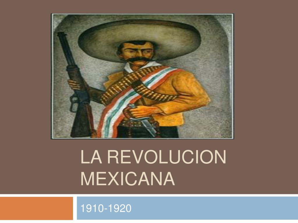 la revolucion mexicana l.