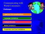 communicating with world consumers