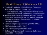 short history of wireless at uf
