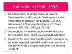 fahim khan 1996 1992