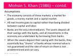 mohsin s khan 1986 contd
