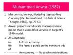 muhammad anwar 1987