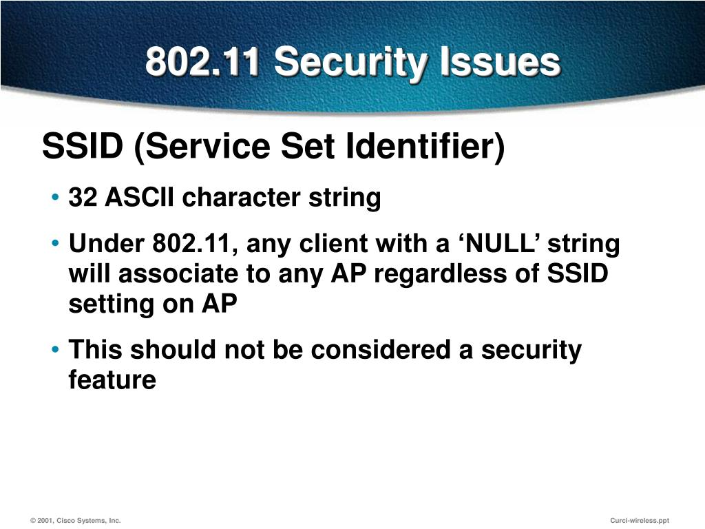 802.11 Security Issues