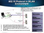 802 1x protocol in wlan environment