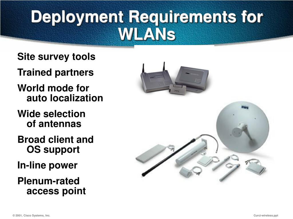 Deployment Requirements for WLANs