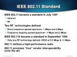 ieee 802 11 standard