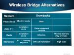 wireless bridge alternatives