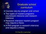 graduate school curriculum