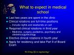 what to expect in medical school1