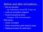before and after simulations