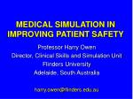 medical simulation in improving patient safety