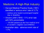 medicine a high risk industry