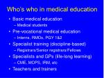 who s who in medical education
