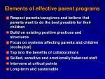 elements of effective parent programs