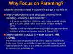 why focus on parenting