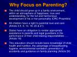 why focus on parenting1