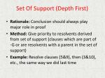 set of support depth first