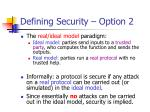 defining security option 2