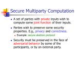 secure multiparty computation