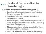 saul and barnabas sent to preach 1 3 1