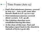 time frame acts 13