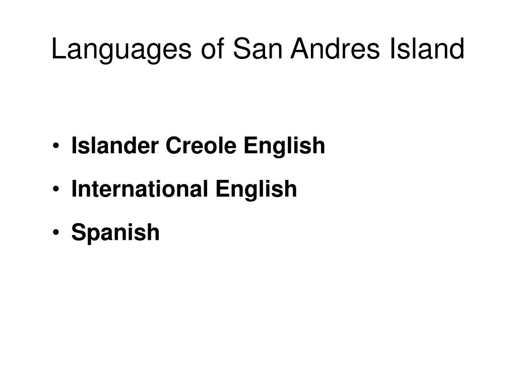 Languages of San Andres Island