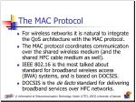 the mac protocol