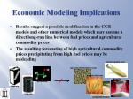 economic modeling implications