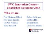 pvc innovation centre established november 2003