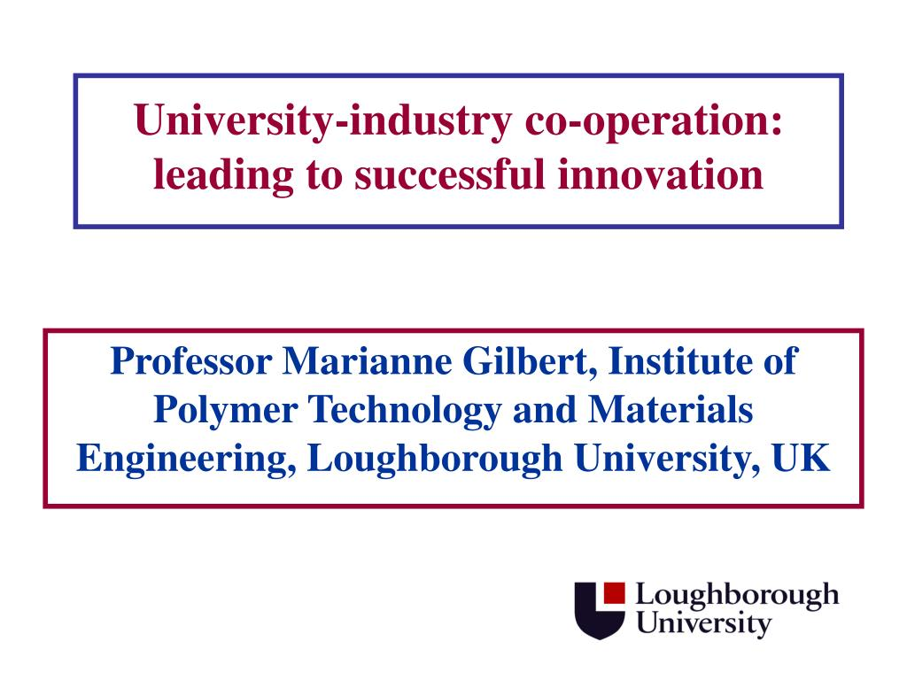 university industry co operation leading to successful innovation l.