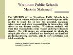 wrentham public schools mission statement