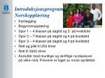 introduksjonsprogram norskoppl ring