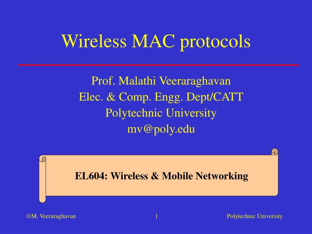 wireless mac protocols l.